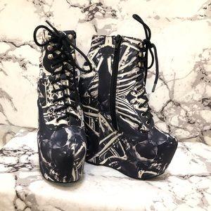 JC 'Damsel' platform lace up heels